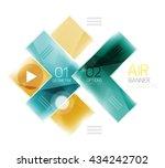 arrow option banner. vector... | Shutterstock .eps vector #434242702