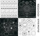 set of decorative black and... | Shutterstock .eps vector #434245306
