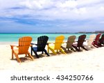 Colorful Beach Chairs On...