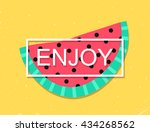 banner with enjoy message and... | Shutterstock .eps vector #434268562