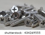 Close Up  Set Of Screws On A...