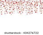 colorful background with heart... | Shutterstock .eps vector #434276722