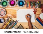 child's hand drawing at... | Shutterstock . vector #434282602