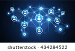 social media network | Shutterstock .eps vector #434284522