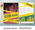 flyers design template vector.... | Shutterstock .eps vector #434295352