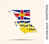 map of british columbia in... | Shutterstock .eps vector #434295442
