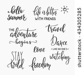 lettering photography family... | Shutterstock .eps vector #434305285