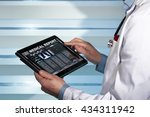 practitioner with a medical... | Shutterstock . vector #434311942