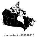 map   canada | Shutterstock .eps vector #434318116