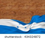 3d rendering flag of honduras ... | Shutterstock . vector #434324872