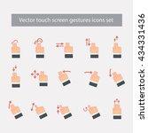 vector touch screen gestures... | Shutterstock .eps vector #434331436