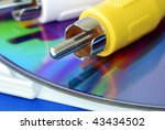 close up view of the rca video... | Shutterstock . vector #43434502