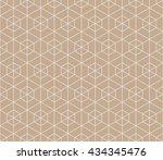 seamless beige hexagonal... | Shutterstock .eps vector #434345476