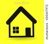 cottage vector illustration | Shutterstock .eps vector #434347972