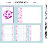 vector design set of printable... | Shutterstock .eps vector #434348062