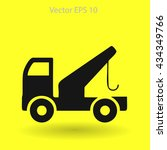 flat evacuator car  icon. vector | Shutterstock .eps vector #434349766