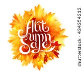 autumn banner with fall leaves... | Shutterstock .eps vector #434354212
