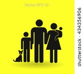 family vector icon | Shutterstock .eps vector #434356906