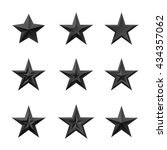 black stars set. detailed icons ... | Shutterstock .eps vector #434357062