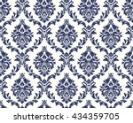 vector seamless floral damask... | Shutterstock .eps vector #434359705
