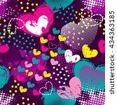 grunge seamless pattern for...   Shutterstock .eps vector #434363185