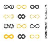 gray and golden infinity... | Shutterstock .eps vector #434363875