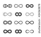 gray infinity symbol icon... | Shutterstock .eps vector #434363878