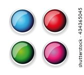 colorful shiny button set with... | Shutterstock .eps vector #434365045