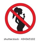 pregnancy no drinking alcohol.... | Shutterstock .eps vector #434365102