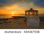 wedding gazebo at sunset | Shutterstock . vector #434367538