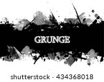 Stock vector ink splash background cracked banner 434368018