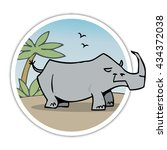 rhino   Shutterstock .eps vector #434372038
