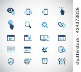 seo services icons | Shutterstock .eps vector #434373028