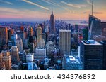 a view of the manhattan skyline ... | Shutterstock . vector #434376892