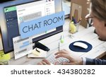 chat room chatting... | Shutterstock . vector #434380282