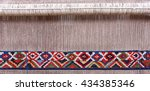 partly woven carpet  rug on a... | Shutterstock . vector #434385346