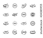 Simple Set of 360 Degree View Related Vector Icons for Your Design.