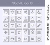 simple thin social icon | Shutterstock .eps vector #434392132