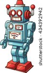 retro toy robot. vector clip... | Shutterstock .eps vector #434392942