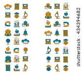 school and education vector... | Shutterstock .eps vector #434394682