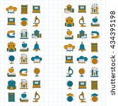 school and education vector... | Shutterstock .eps vector #434395198
