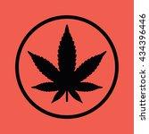 marijuana leaf vector icon | Shutterstock .eps vector #434396446