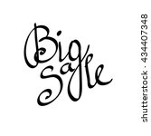 big sale lettering hand drawn... | Shutterstock . vector #434407348