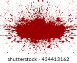 vector splatter red color... | Shutterstock .eps vector #434413162