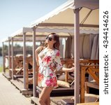 summer fashion photo of young... | Shutterstock . vector #434414626