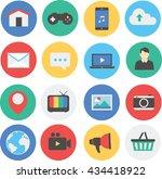 collection of social media icon | Shutterstock .eps vector #434418922
