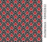 red  black and white chevrons... | Shutterstock .eps vector #434422612