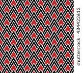 red  black and white chevrons... | Shutterstock .eps vector #434422612