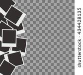 retro photo frames isolated on... | Shutterstock .eps vector #434428135