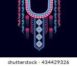 geometric ethnic oriental... | Shutterstock .eps vector #434429326